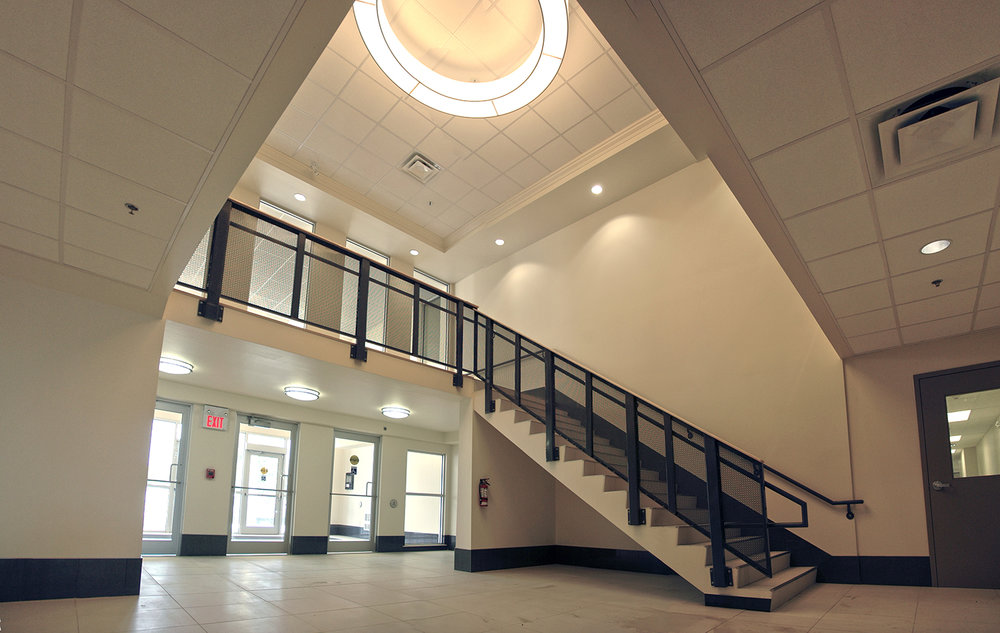 Punjab Cultural Centre, interior photo of staircase / Photo: Derrick Finch