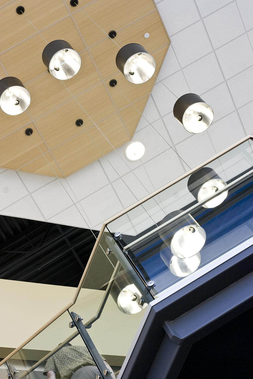 Qualico Winnipeg, interior detail photo of lighting / Photo: Tracy A Wieler
