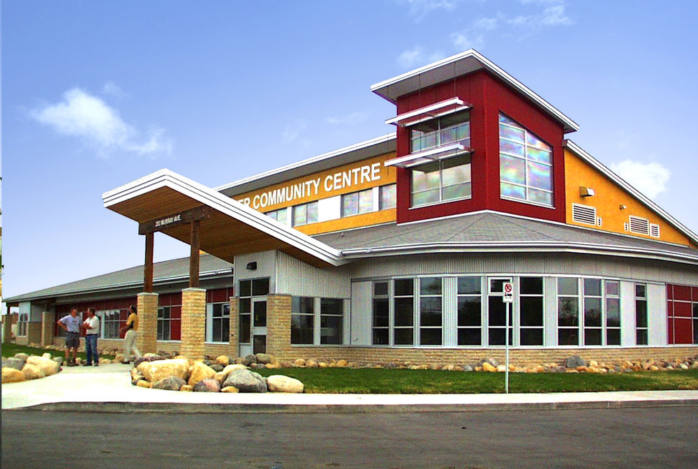 Red River Community Centre, exterior photo of building