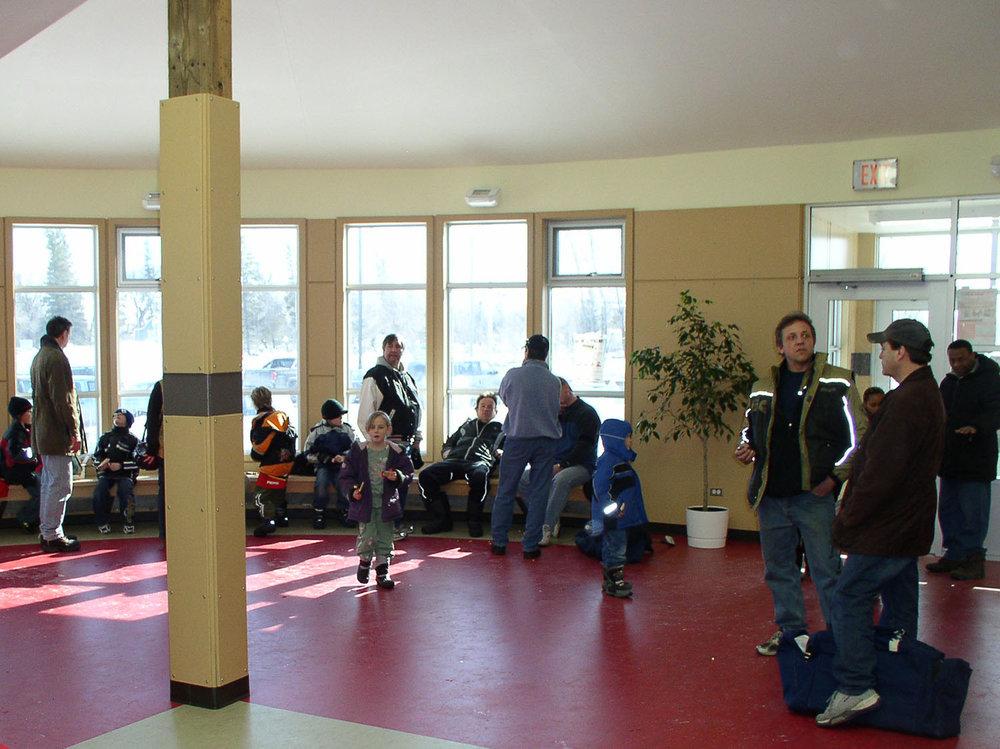 Red River Community Centre, interior photo of entrance