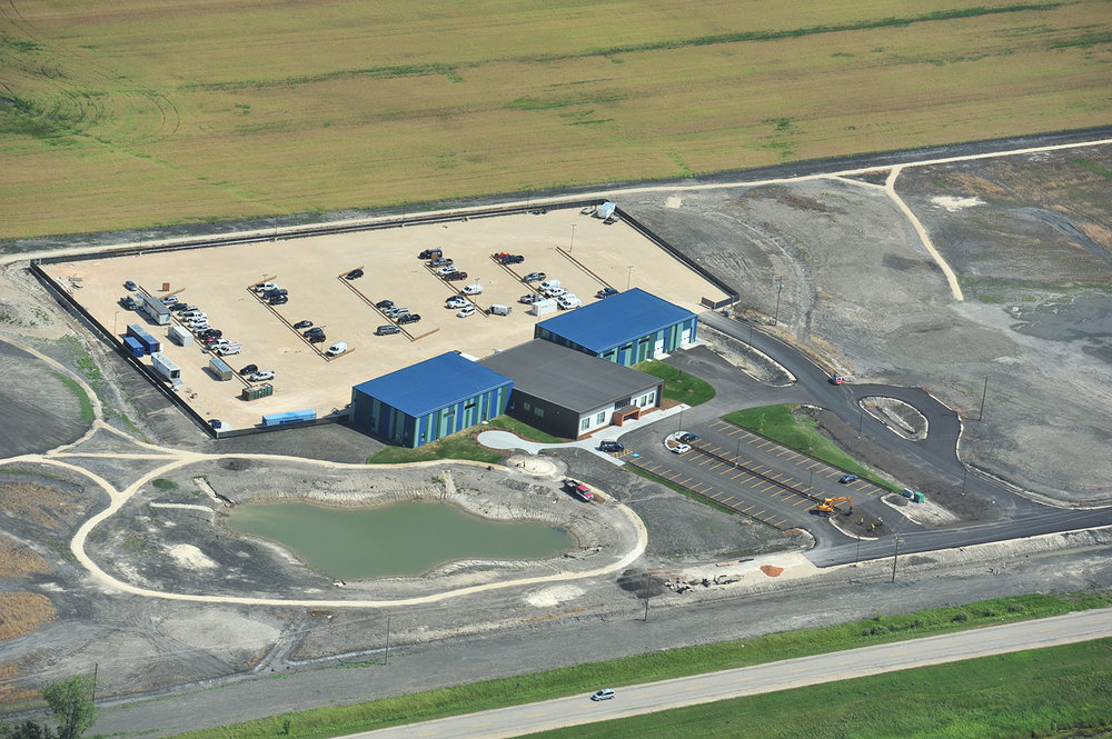 Seven Oaks Learning & Service Facility, aerial photo of building