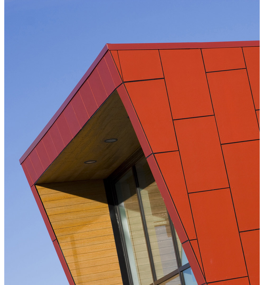 Sturgeon Heights Community Centre, exterior detail photo of building / Photo: Tracy A Wieler