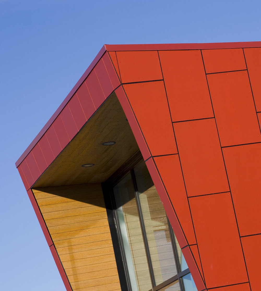 Sturgeon Heights Community Centre, exterior detail of building / Photo: Tracy A Wieler