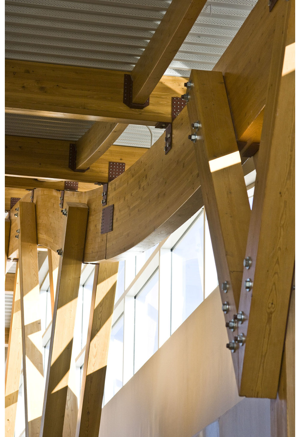 Sunova Credit Union, interior photo of building structural system / Photo: Tracy A Wieler