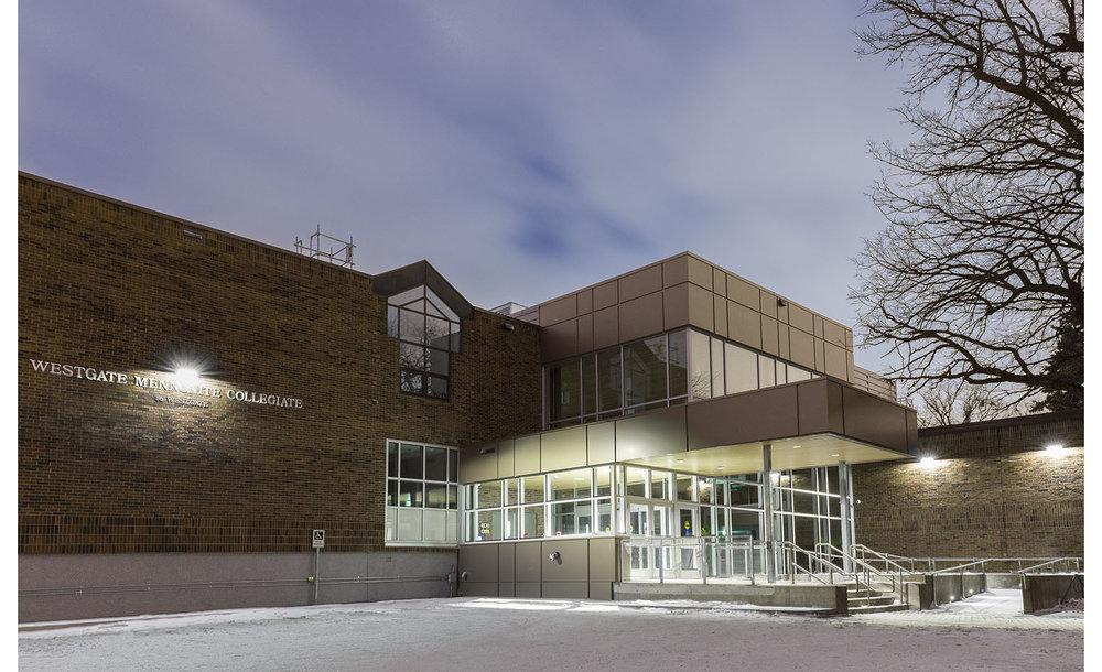 Westgate Mennonite Collegiate, exterior photo of building