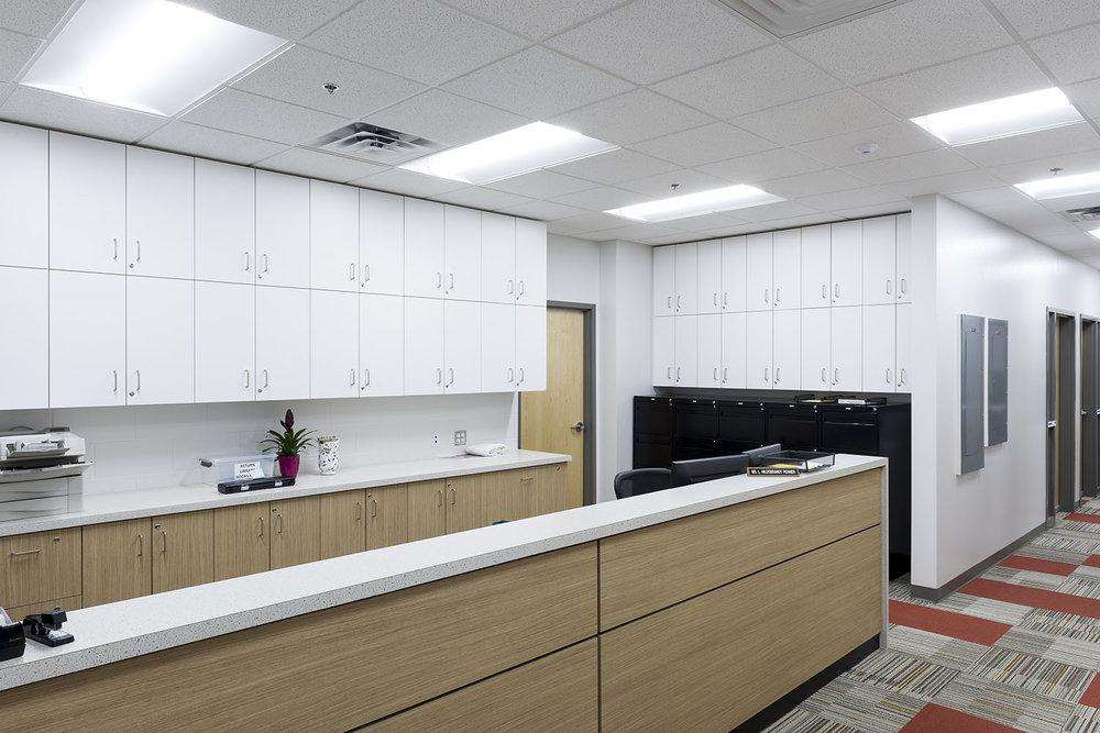 Westgate Mennonite Collegiate, interior photo of office