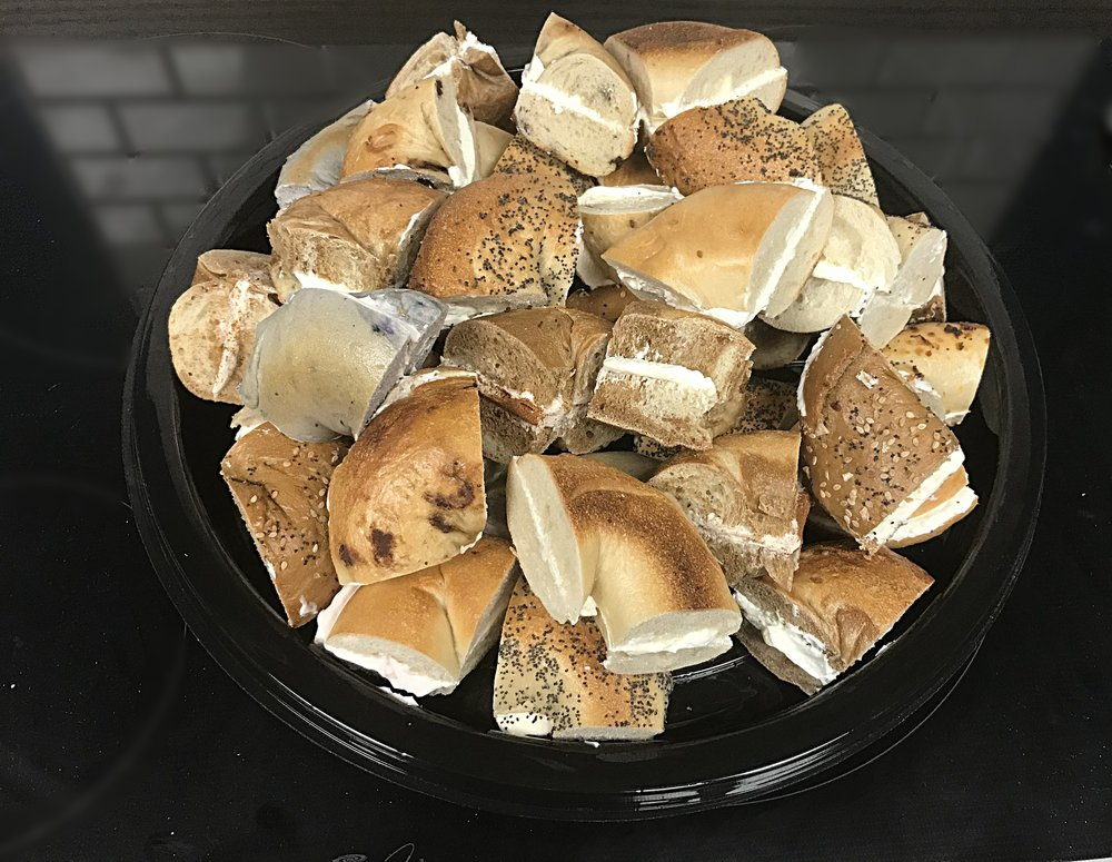 Bagel Bites Tray - Your choice of 8 bagels