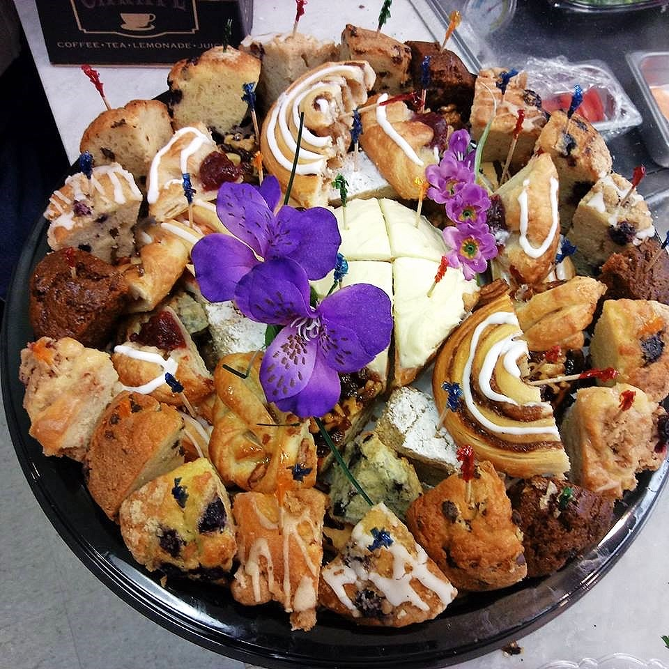 Sweet Tray - A delectable assortment of our fresh muffins, croissants, cinnamon buns, sticky buns, and more!$29.95