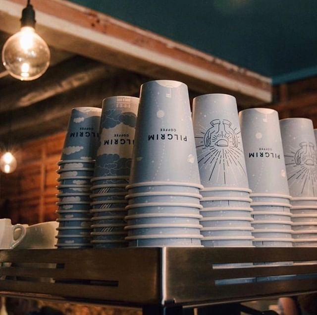Shoutout to @pilgrimcoffee for using #reCUP for their #sustainable initiatives! ♻️☕️💪 #recyclablepapercup #lesswaste #plasticreduction