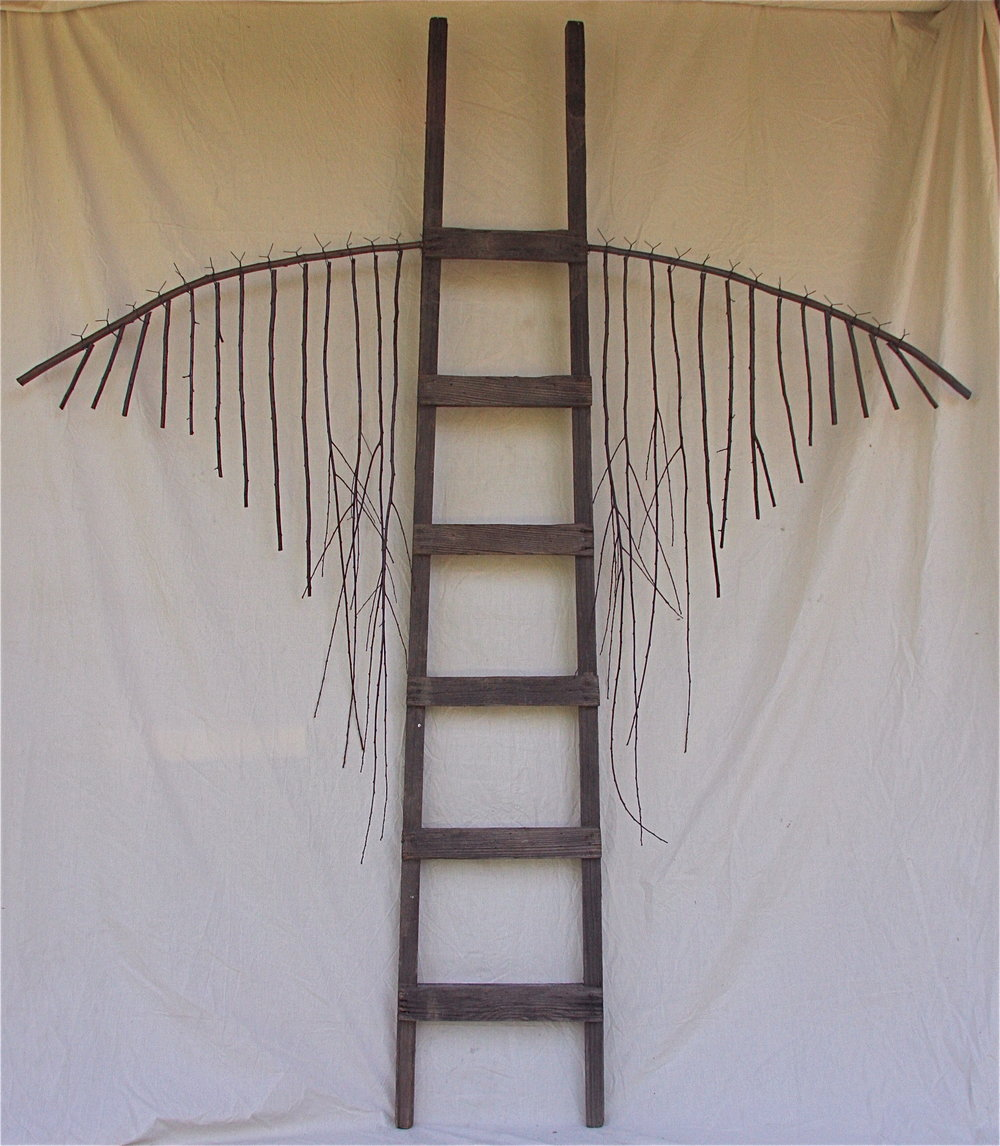 Traversing the ethereal scale   2010  Wood and wire  98 x 84 x 9