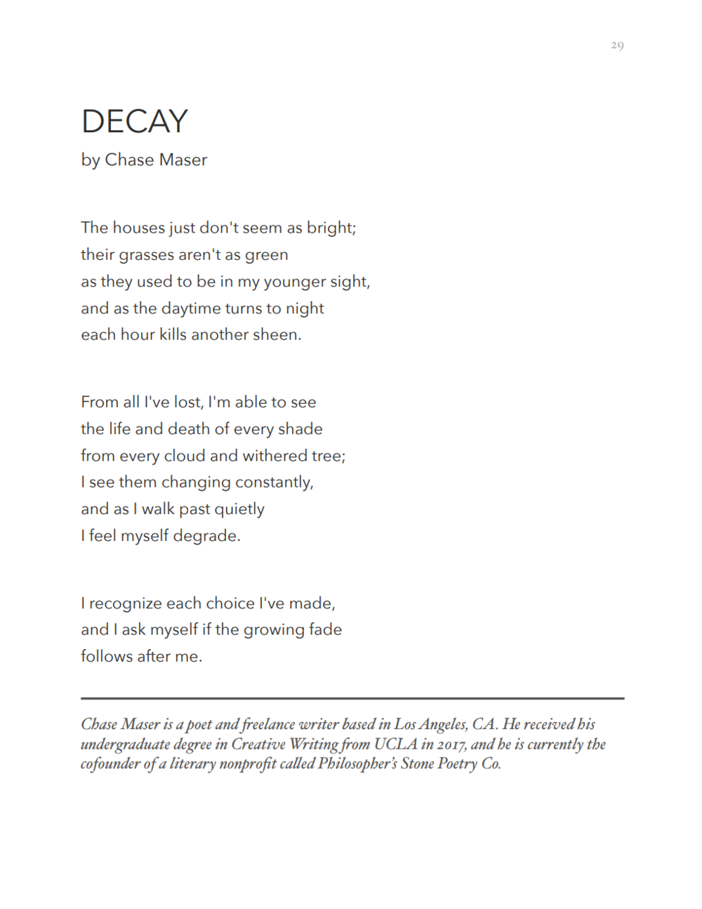 My second poem  Decay