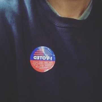 Yes I did. #vote #change #america