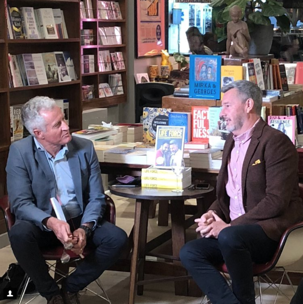 """Barry & Peter discussing """"Life Force"""" by Barry Du Bois"""