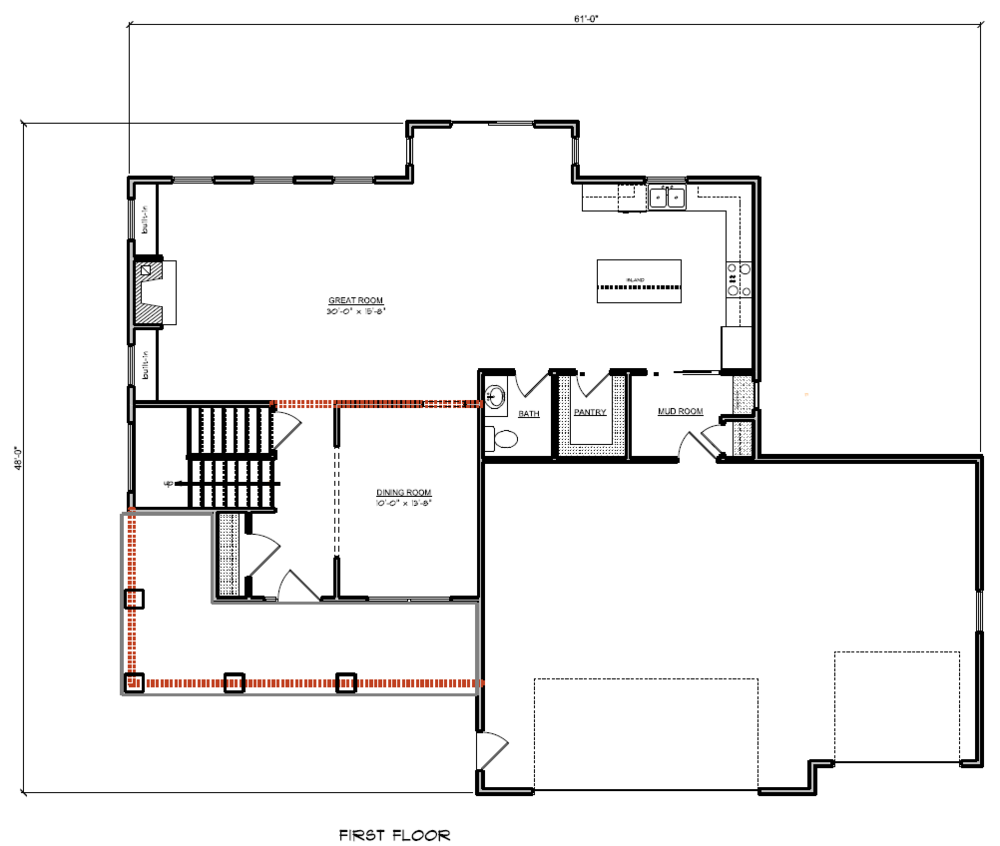 Lot 69 Floor Plan - 1st Floor