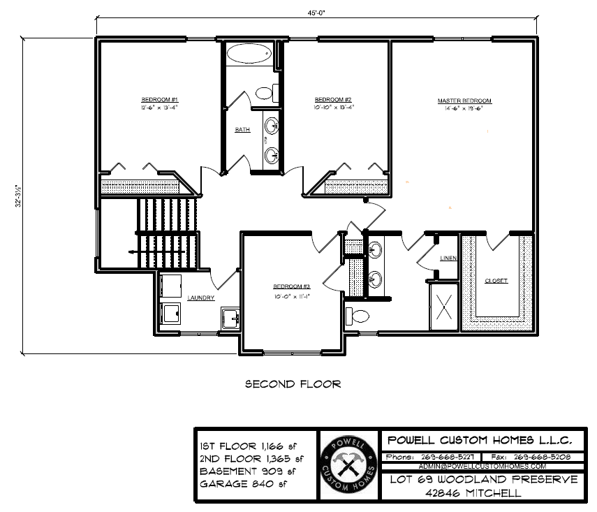 Lot 69 Floor Plan - 2nd Floor