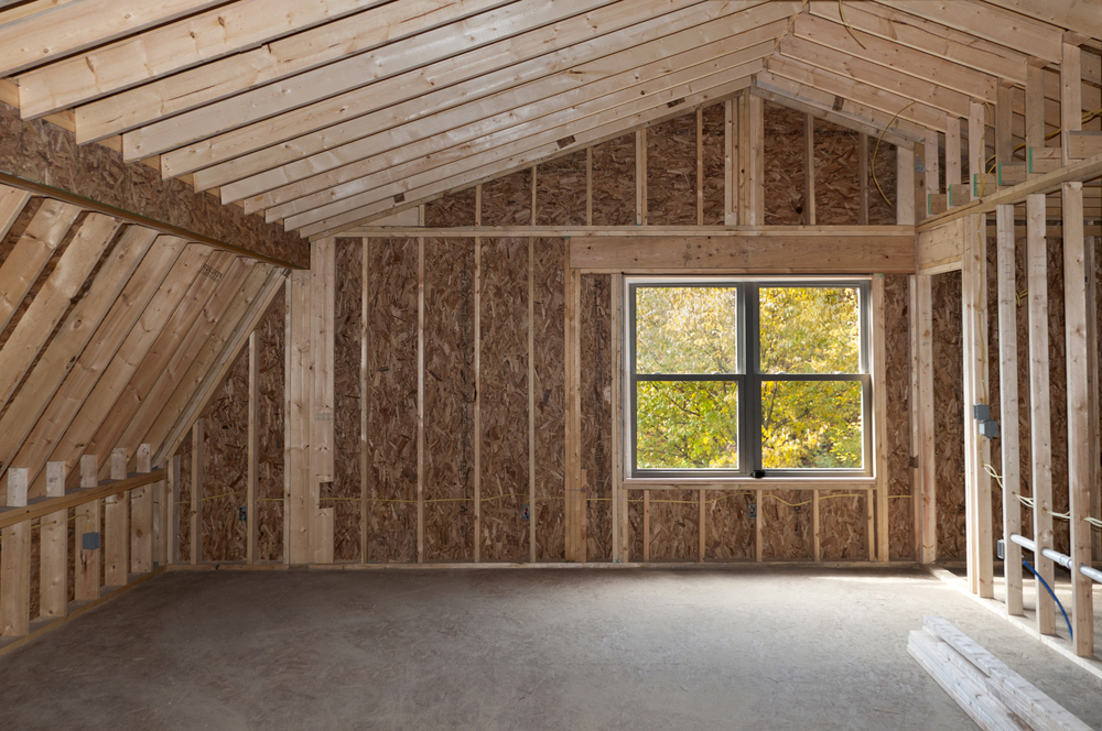 room addition with vaulted ceiling