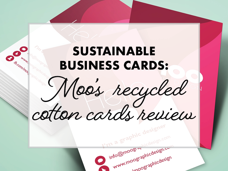 sustainable business cards a review of moo's recycled cards