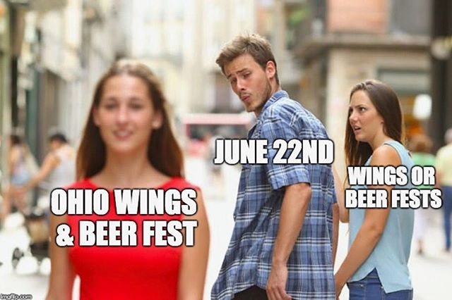 One roof. Beer. Wings. O-H-I-O. It's happening on June 22nd, get your tickets now and don't get stuck like this guy looking.