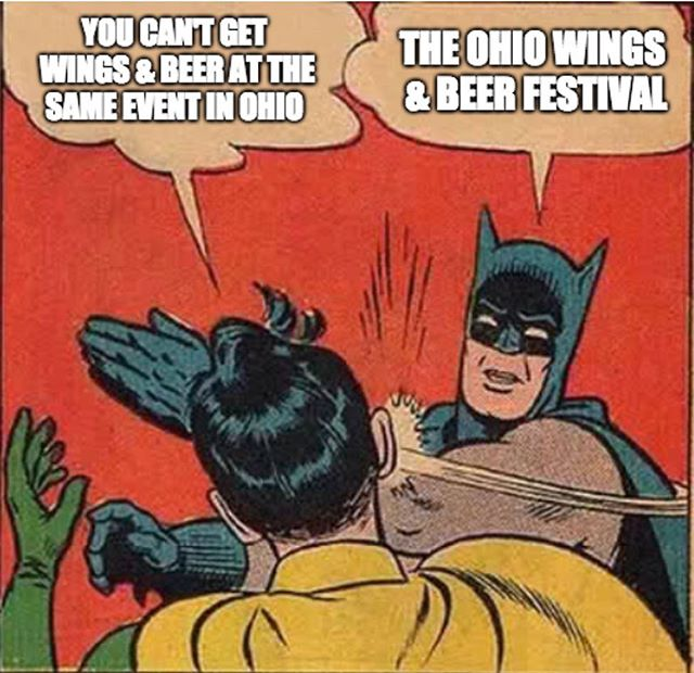 That's right. We're gearing up for an awesome day of the best wings and beer in Ohio.