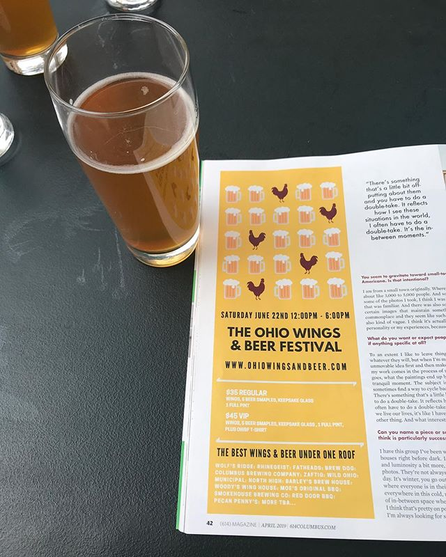 Happy April! Sour beers @platformbeercbus and our first ad in @614magazine is out!