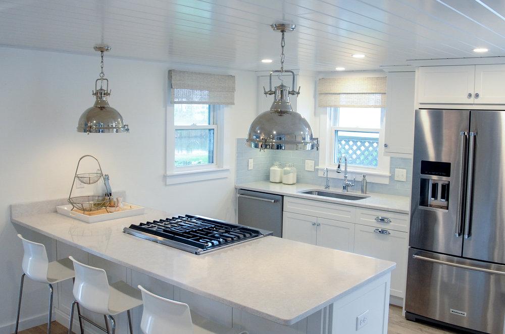 Bright White Beach Cottage -