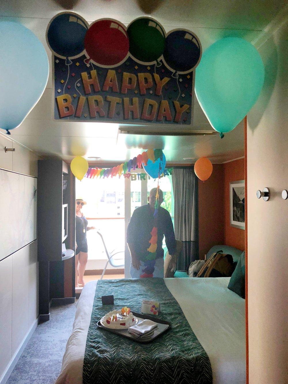 Birthday decorations! Thank you Norwegian!