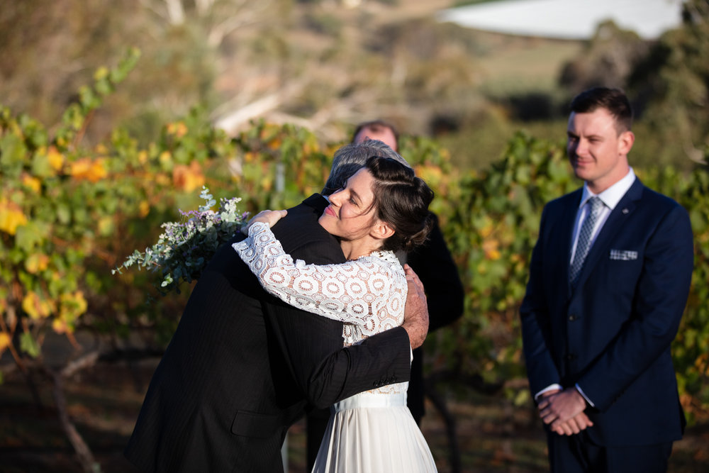 Wedding Borrodell Vineyard - elopement