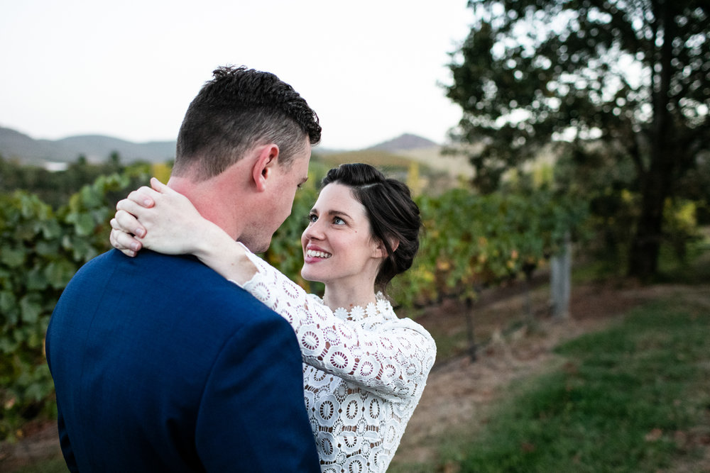 Wedding Borrodell Vineyard - elopement in the vines.