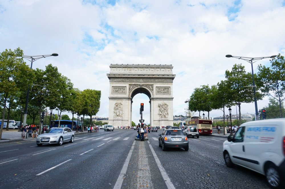 First stop was the Arc De Triomphe. This is the view of the spectacular monument from the Avenue des Champs-Élysées.