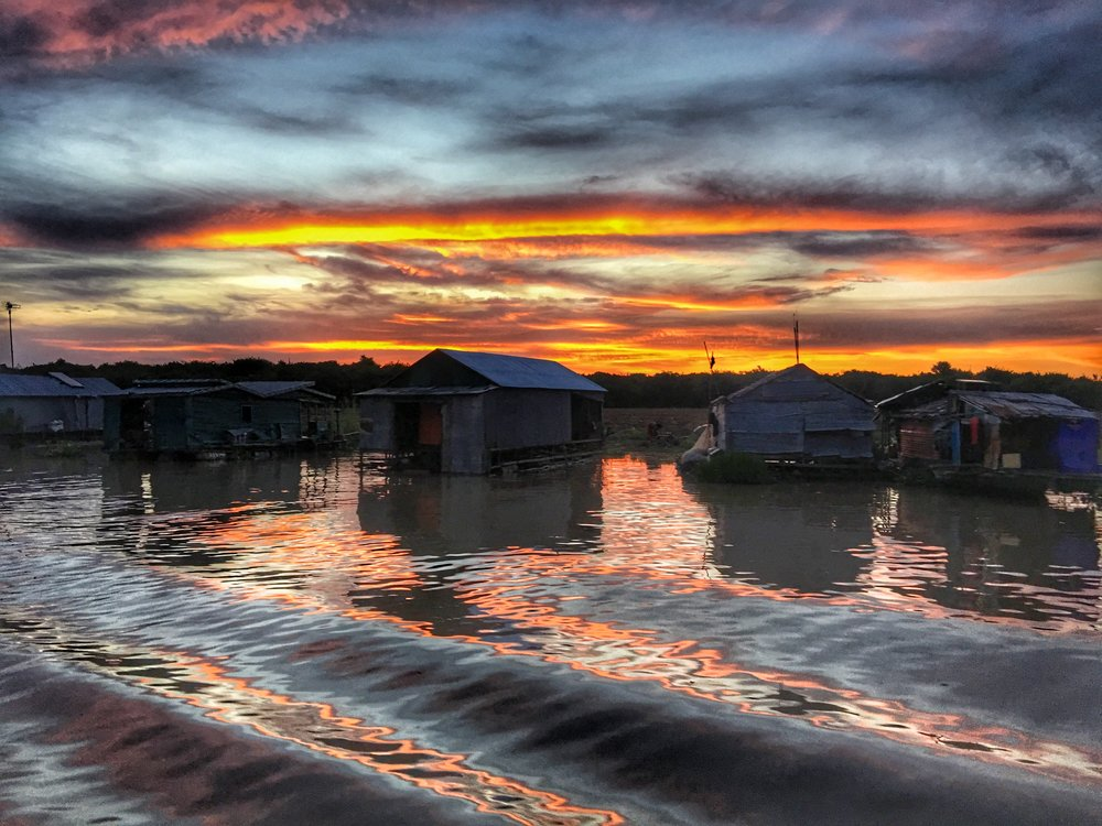 Kompong Kleng Sunset