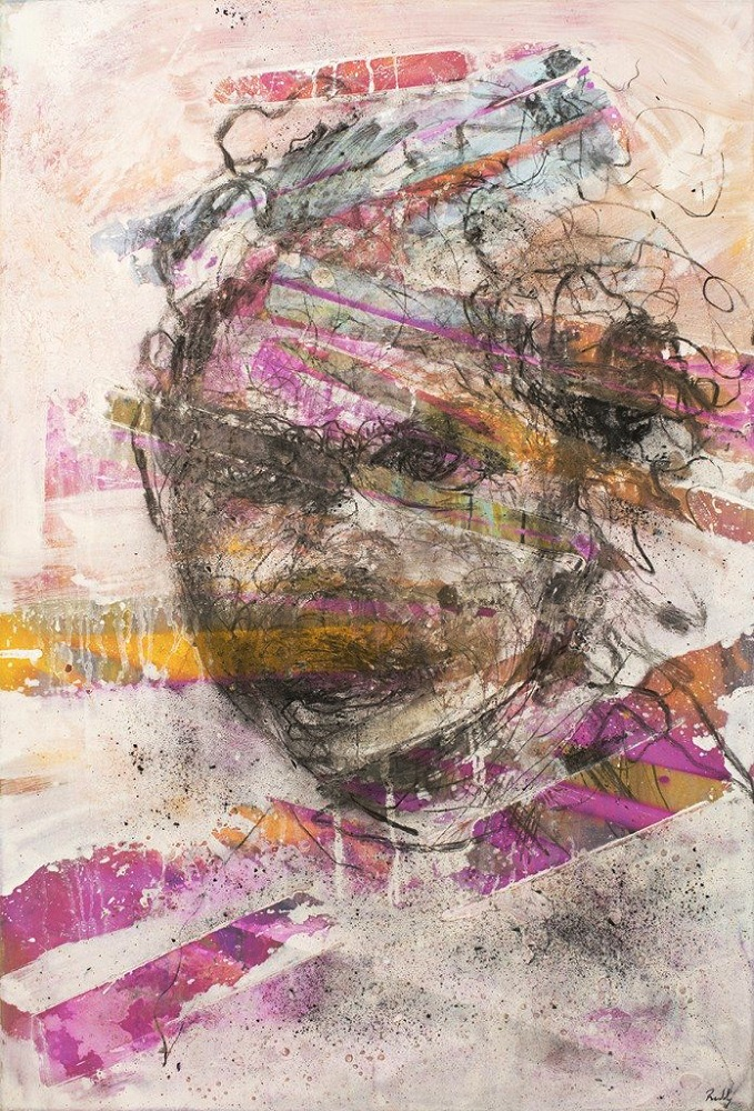 Fractured  Existence. Mixed Media On Canvas. 124 x 85