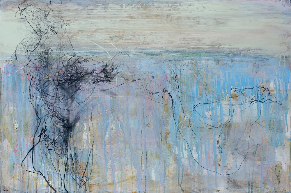 Wild Grass. Plaster Acrylic Ink Charcoal and Varnish on Board. 80 x 120cm