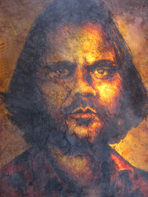 "2010 / Portrait of Warwick Thornton ""The Prince of Darkness"". - Archibald Prize FinalistWinner of the people's choice awardWarwick Thornton is an aboriginal writer/director, won the Camera d'Or for Best Feature Film at the 2009 Cannes Film Festival for Samson & Delilah.https://www.artgallery.nsw.gov.au/prizes/archibald/2010/29087/"