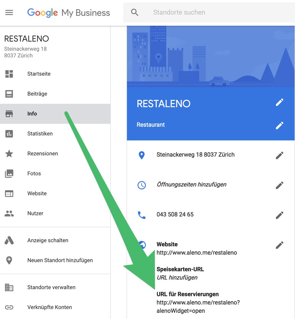 aleno restaurant reservation system google mybusiness.png
