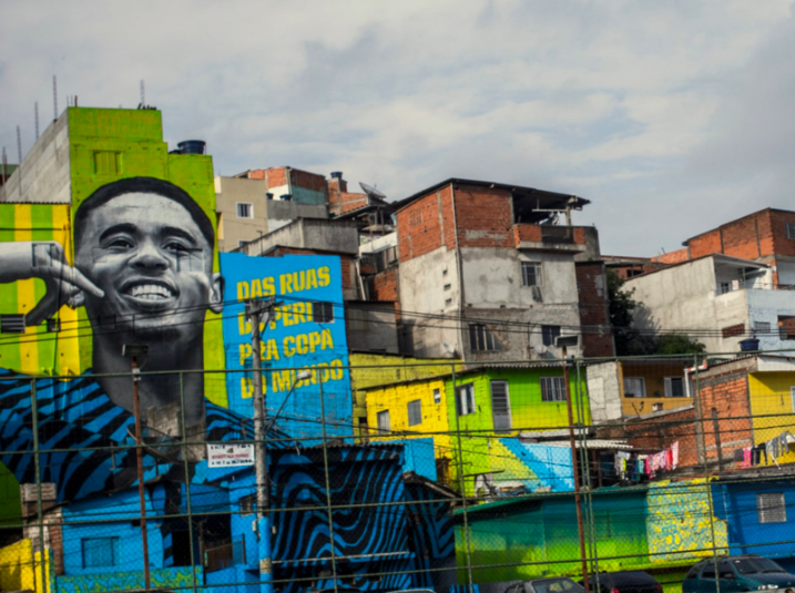 adidas Paint the streets: the Gabriel Jesus mural
