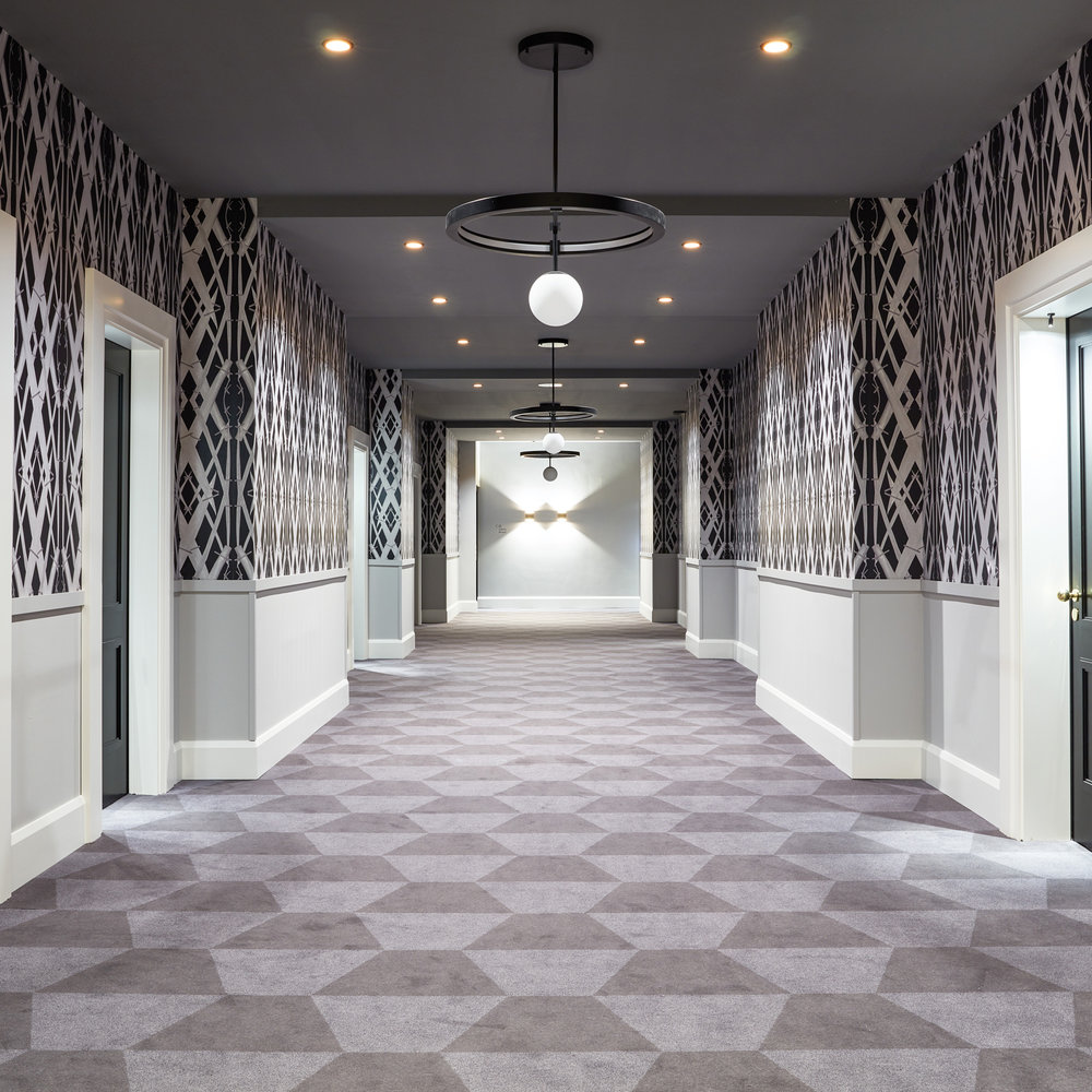 Meadow Grass in Black for the corridors of the Tortue Hotel in Hamburg
