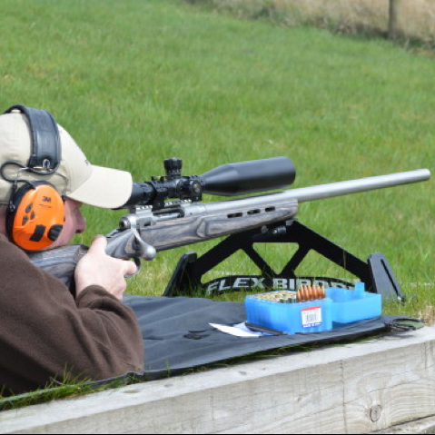 """F Class (TR) - Target rifle is simply a different class of Fullbore shooting. TR class is target rifle, """"F"""" class shooting or Field Class, this allows the shooter to lie down or use a bench to shoot off with telescopic sights fitted.In Optical Class shooting, the shooter lies prone, uses the normal sling set-up, and has a scope mounted to the rifle.These matches are shot in the same fashion as the full bore matches with the shooter firing from prone position, single shot precision shooting at 'round bull' targets at distances from 300 to 1000 yards, with each shot being carefully scored and analysedSee our Shooting Calendar for match dates"""