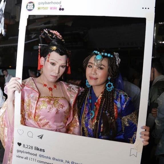 "🎃👻1️⃣7️⃣ Fabulous Twins @lsymike again!  Please vote by clicking ""like"" of this post by 8 Nov (Thur) at 23:59.  Every likes in IG counts for the Gaybarhood Halloween Best Costume 2018.  #gaybarhoodhalloween2018 #gaybarhood @flmhk @wink_hk @zoobar_hk"