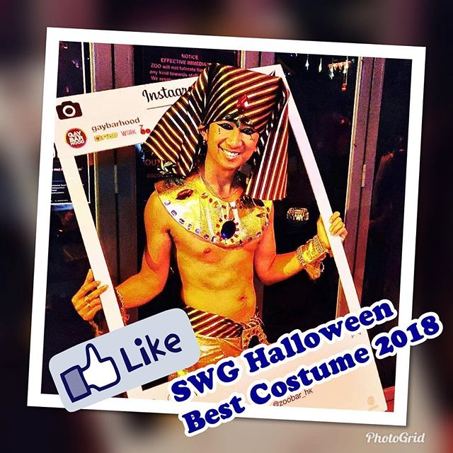 Congratulations to our Winner of the first Sheung Wan Gaybarhood Halloween Best Costume Contest 2018 👏🏻👏🏻👏🏻 @thtravels ! Thanks so much for all your support to the contest. Stay tuned for more fun with SWG!  #gaybarhoodhalloween2018  #gaybarhood  @flmhk  @wink_hk  @zoobar_hk