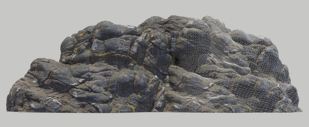 Create a cliff with just a set of simple meshes. - You dont need to sculpt anything!