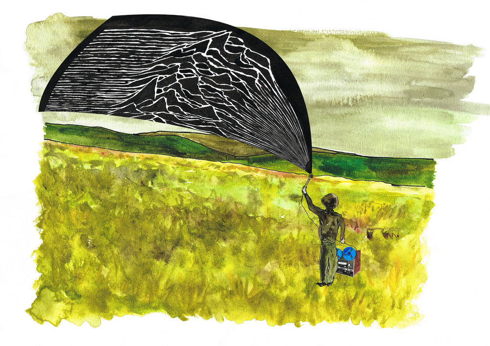 Martin Hannett 'Recording Silence' illustration by Daniel Davidson