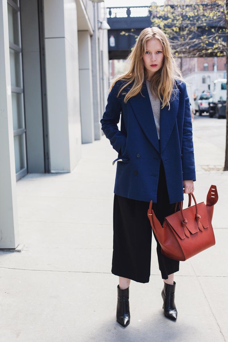 Carolina Engman, Celine Tie Bag & By Malene Birger jacket
