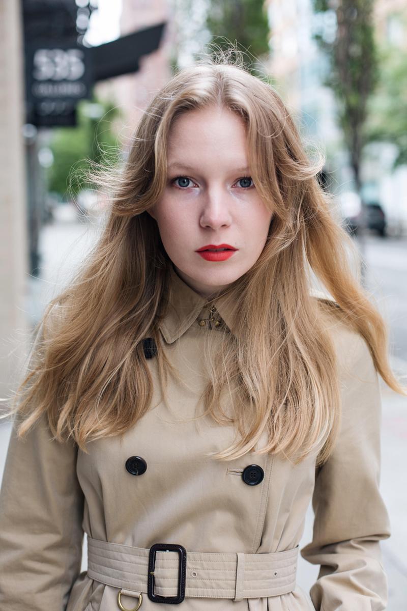 Carolina Engman red lipstick