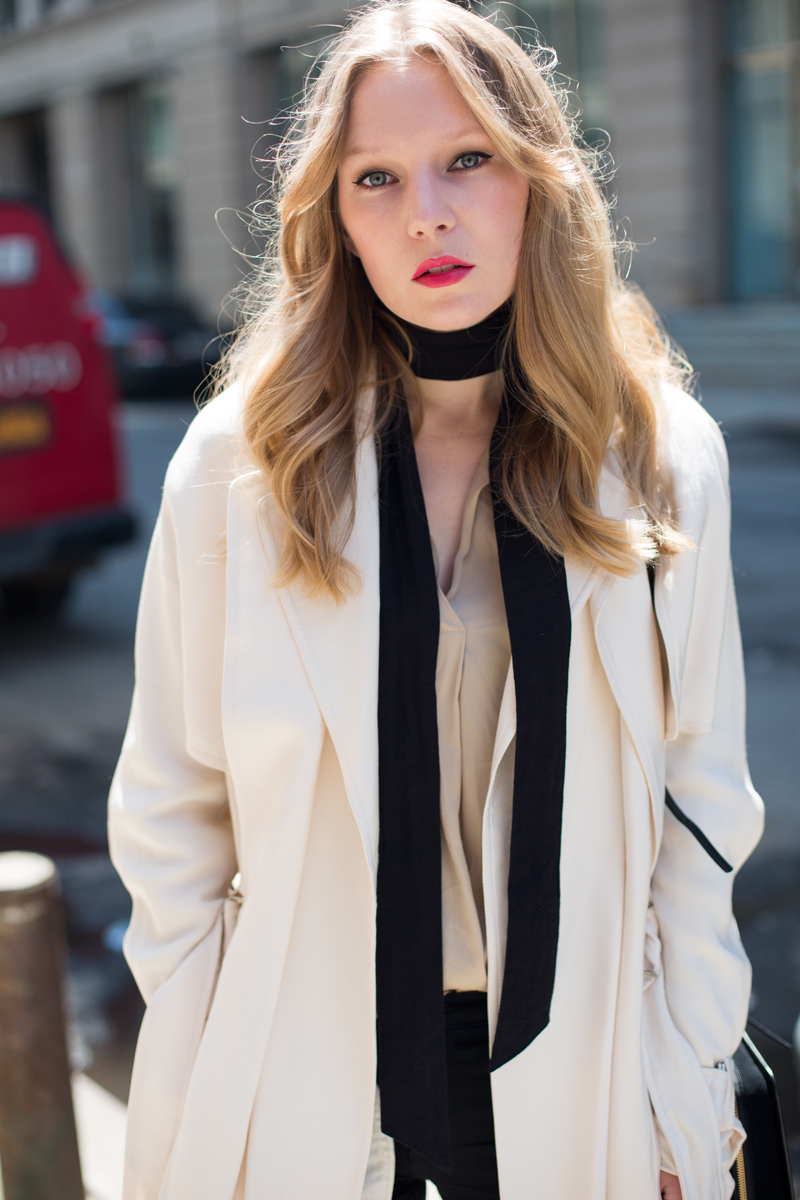 Carolina Engman wearing Malene Birger trench