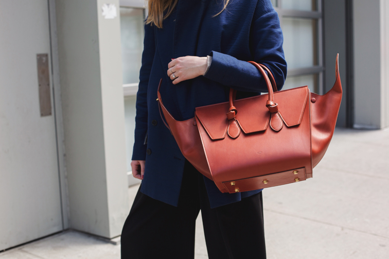Small Celine tie handbag