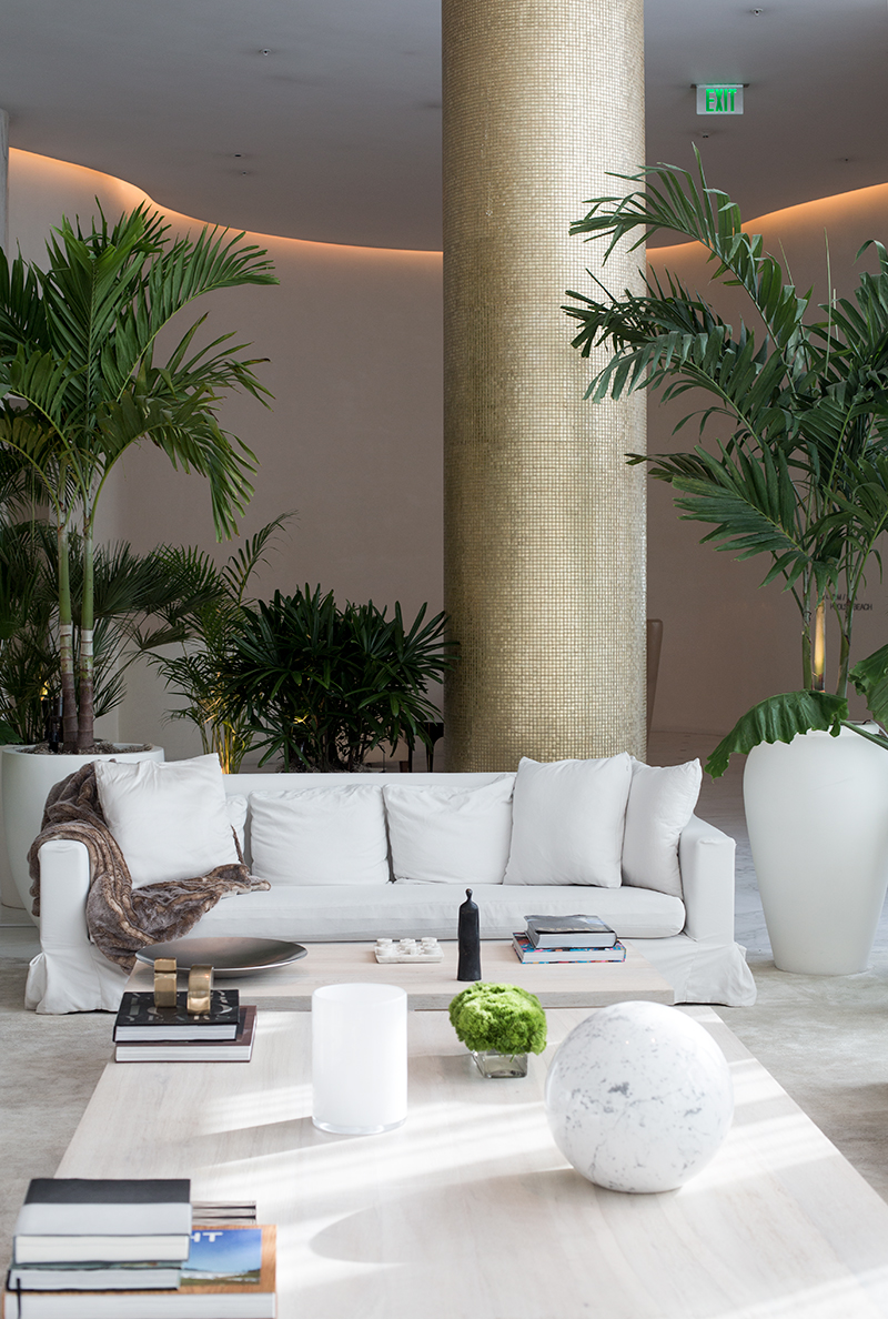 The gorgeous Lobby at The Miami Beach EDITION
