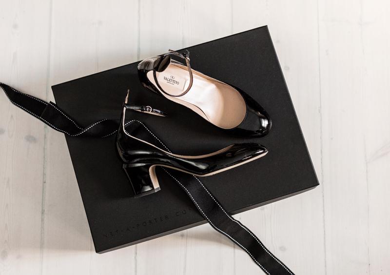 Valentino Tango Black Patent Pumps