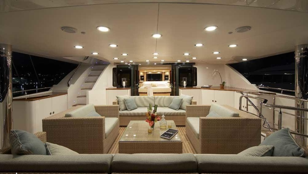 Luxury Charter Yacht Lady Leila Bridge Deck Master Stateroom Private Deck