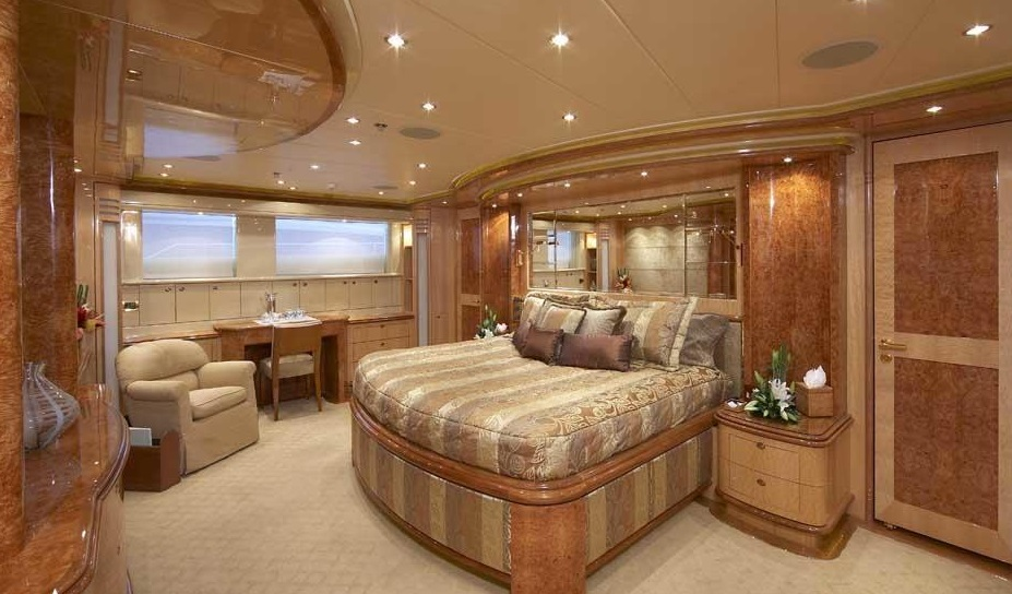 Luxury Charter Yacht Lady Leila On Deck Master Stateroom