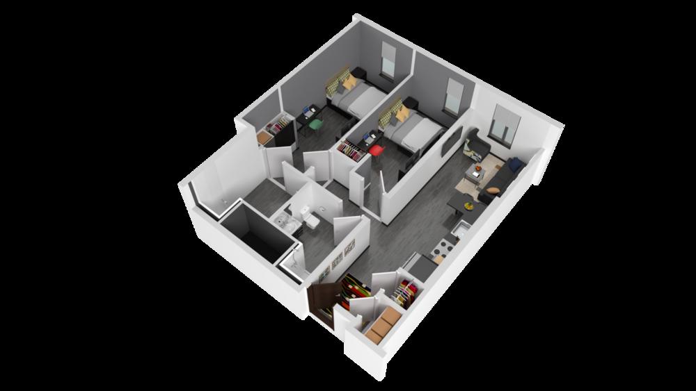 3D Rendering of Genesee Floor Plan